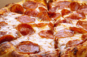 Mozzarella Prints - Pepperoni Pizza 1 - Pizzeria - Pizza Shoppe Print by Andee Photography
