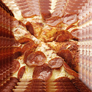 Home Design Kitchen And Food - Pepperoni Pizza 25 Pyramid by Andee Photography