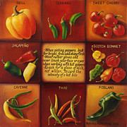 Thai Drawings - Peppers by Natalia Astankina