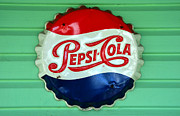 Bottle Cap Posters - Pepsi Cap Poster by David Lee Thompson