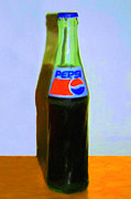 Pepsi Cola Framed Prints - Pepsi Cola Bottle Framed Print by Wingsdomain Art and Photography