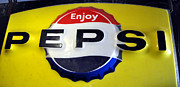 Enjoying Framed Prints - Pepsi-Cola Sign I Framed Print by Daryl Macintyre