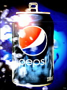 Pepsi Can Framed Prints - Pepsi Framed Print by Daniel Janda