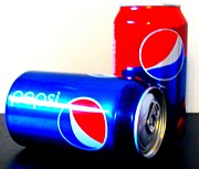 Pepsi Can Framed Prints - Pepsi Pop Art 5 Framed Print by Margaret Newcomb