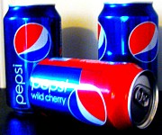 Pepsi Can Prints - Pepsi PopArt 2 Print by Margaret Newcomb