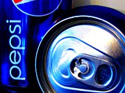 Pepsi Can Prints - Pepsi PopArt_1 Print by Margaret Newcomb