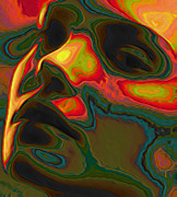 Tradigital Art Prints - Perception Print by Byron Fli Walker