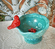 Red Ceramics - Perched by Amanda  Sanford