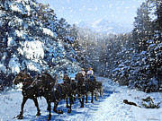 Ric Soulen - Percheron Team In Snow