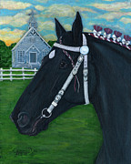 Folkartanna Paintings - Percheron--The Dutchess County Fair by Anna Folkartanna Maciejewska-Dyba