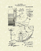 Drum Set Art - Percussion System 1909 Patent Art by Prior Art Design