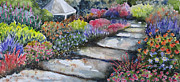 Brilliant Paintings - Perennial Pathway by Corynne Hilbert