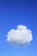 Clear Blue Sky Framed Prints - Perfect Cloud Framed Print by Colin and Linda McKie