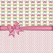 Pink Ribbon Prints - Perfect Little Butterflies Print by Debra  Miller