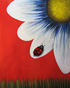 Daisy Art - Perfect Summer by Shawna Erback  by Shawna Erback