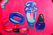 Dressing Room Paintings - Perfume by Marisela Mungia
