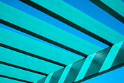 Light Gray Turquoise Posters - Pergola Poster by Don Durante Jr