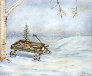 Old Wooden Wagon Prints - Perhaps Tomorrow Print by Vicky Watkins
