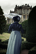 Mansion Photo Prints - Period Lady In Park Print by Joana Kruse