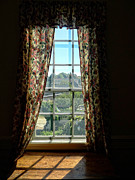 Edward Fielding - Period window with floral curtains
