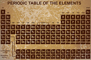 Chemicals Digital Art Prints - Periodic Table of The Elements - 4 Print by Paulette Wright