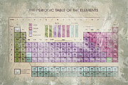 Chemicals Digital Art Prints - Periodic Table of The Elements - 5 Print by Paulette Wright