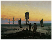 Sailing Ships Posters - Periods of Life Poster by Caspar David Friedrich