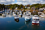 Turning Leaves Prints - Perkins Cove Print by Mary Ann Tardif