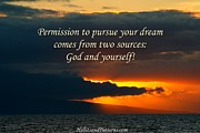 Hypnotherapy Posters - Permission to pursue your dream Poster by Pharaoh Martin