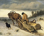 1833 Art - Perov, Vasily 1833-1882. Seeing-off by Everett