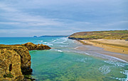 Cornwall Prints - Perranporth Beach Print by Chris Thaxter