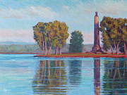 Perry Paintings - Perry Monument by Michael Camp