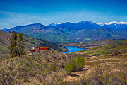 Methow Valley Metal Prints - Perrygin Lake in the Methow Valley Landscape Art Metal Print by Omaste Witkowski