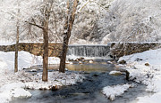New England Winter Framed Prints - Perryville Dam Framed Print by Robin-lee Vieira