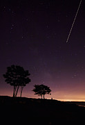 Meteor Shower Prints - Perseids Meteor Over Sasco Hill Print by Stephanie McDowell