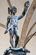 Medusa Metal Prints - Perseus By Cellini Metal Print by Melany Sarafis