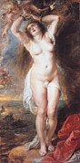 Famous Artists - Perseus Freeing Andromeda by Peter Paul Rubens