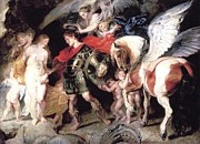 Rubens Digital Art Metal Prints - Perseus Liberating Andromeda Metal Print by Peter Paul Rubens