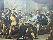 The Followers Photo Prints - Perseus turning Phineas and his followers to stone by luca Giordano Print by Stefano Baldini