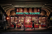 Night Cafe Framed Prints - Pershing Square Framed Print by Craig Gordon