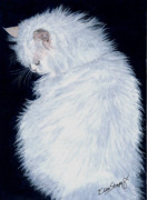 Cat Images Paintings - Persian by Ellen Strope