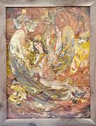 Persian Lady Playing Chang Print by Persian Art