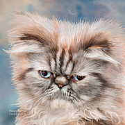 Cat Art Prints - Persian Portrait Print by Carol Cavalaris