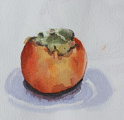Persimmon Paintings - Persimmon by Jan Bennicoff