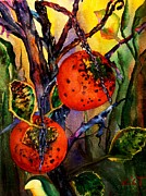 Persimmon Paintings - Persimmon Pudding by Lil Taylor