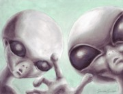 Alien Pastels - Personal Space Invaders by Samantha Geernaert