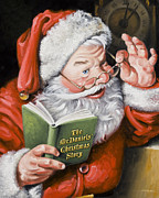 Family Print Paintings - PERSONALIZED Santa Painting....Instructions are on lower right side of this page. by Dixie Rogers