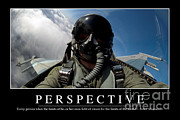 Jet Poster Posters - Perspective Inspirational Quote Poster by Stocktrek Images