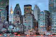 New York City Skyline Photo Framed Prints - Perspectives Framed Print by JC Findley
