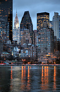 New York City Skyline Photo Framed Prints - Perspectives V Framed Print by JC Findley